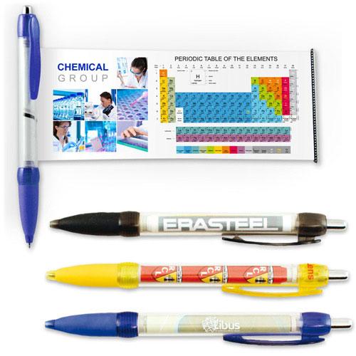 stylo original avec bannière déroulante objet publicitaire personnalisable