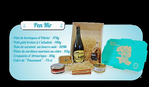 Coffrets gourmands Pen Hir Brest produit du terroir breton bretagne finistere spécialité