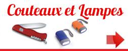 Couteaux et lampes objet pubs Brest Quimper Finistere 29