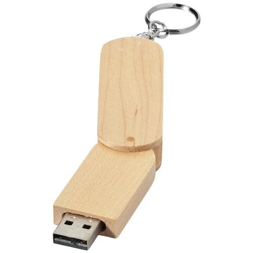 Clé USB rotative en bois Cléa'Com Objets Publicitaires Finistère