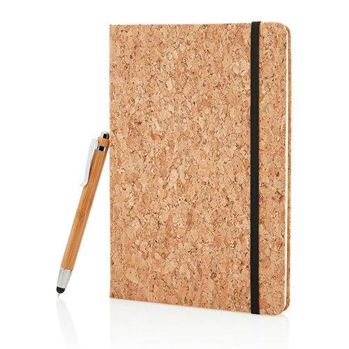 Carnet liège stylo Bambou