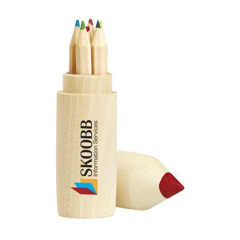 6 crayons de couleur en bois non vernis
