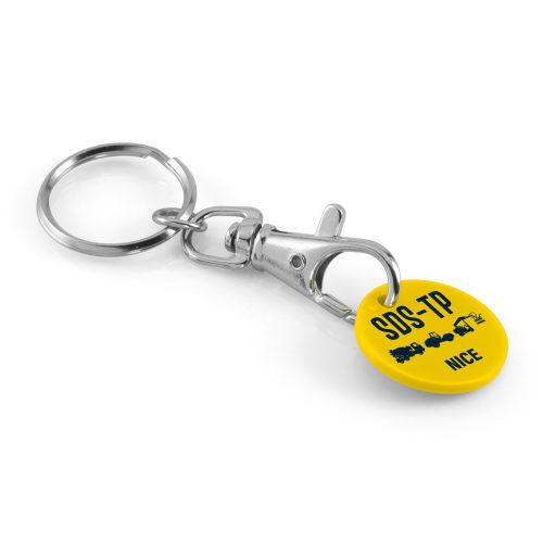 Porte clé mousqueton + jeton bio
