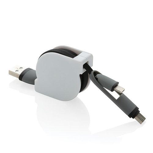 Cable rétractable objet publicitaire Cléacom Brest