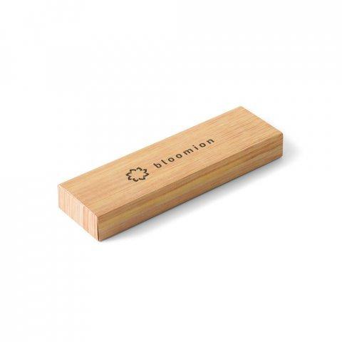 Set stylo à bille et porte-mine en bambou