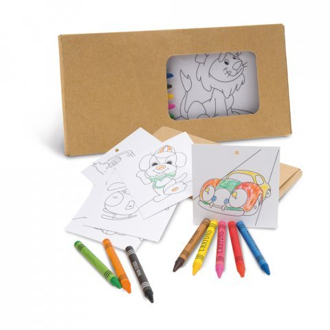 Set coloriage en carton.