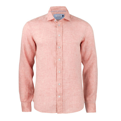 Chemise lin chiné manches longues