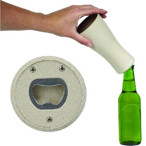 Verre à bière en paille de blé 400 ml Tagus